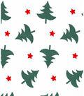 Christmas Cotton Fabric 43\u0027\u0027-Christmas Trees & Stars on White