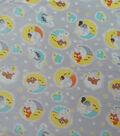 Nursery Fleece Fabric-Happy Moon Animals