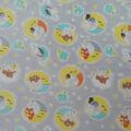 Nursery Fleece Fabric-Happy Moon with Animals