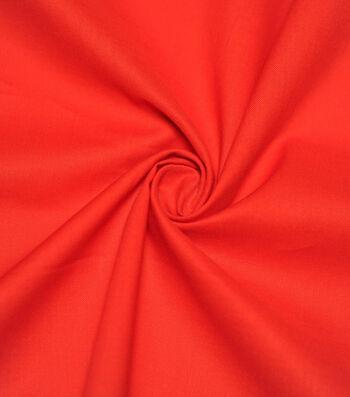 Premium Cotton Fabric -Poppy Red