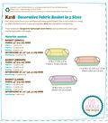 Kwik Sew Pattern K0218 Decorative Fabric Baskets in 3 Sizes