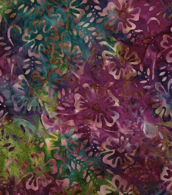 """Legacy Studio Batik Cotton Fabric 43""""-Floral"""
