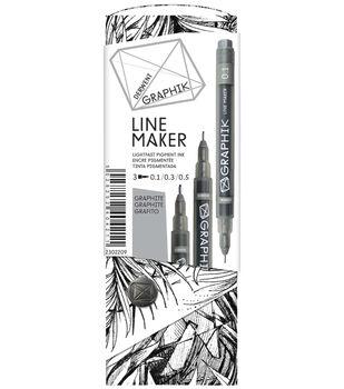 Derwent Graphik Line Pen Set-Graphite
