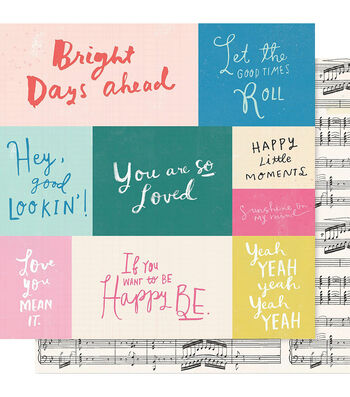 """Maggie Holmes Willow Lane Double-Sided Cardstock 12""""X12""""-Melody"""