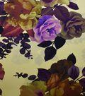 Gianna Silk & Rayon Print Fabric 42\u0022-Floral on Ochre