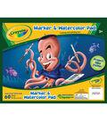 Crayola Marker&Watercolor Pad 10\u00228\u0022 50 Sheets