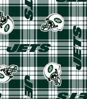 "New York Jets Fleece Fabric 58""-Plaid, , hi-res"