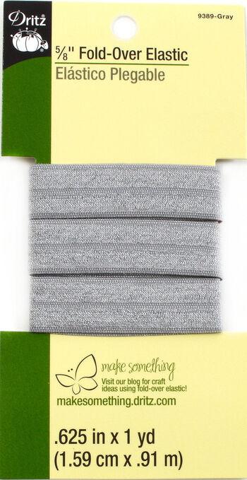"Dritz 5/8""  Fold Over Elastic Gray 1Yd"