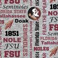 Florida State University Seminoles Fleece Fabric-Heather Verbiage