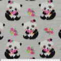 Anti-Pill Plush Fleece Fabric-Flower Pandas