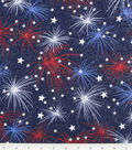Patriotic Cotton Fabric -Fireworks with Stars