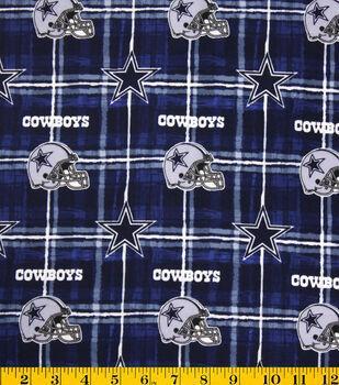 Dallas Cowboys Flannel Fabric -Logo