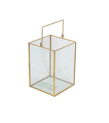 Save the Date Clear Gold Edge Lantern