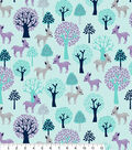 Snuggle Flannel Fabric 42\u0022-Sweet Deer In Trees