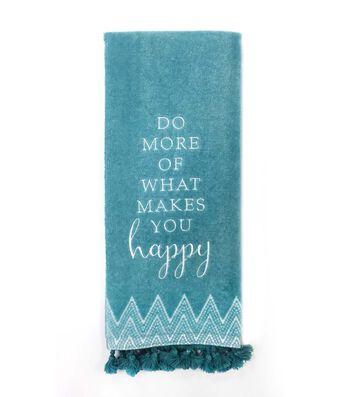 Hudson 43 Pure 16''x28'' Velour Terry Towel-Happy