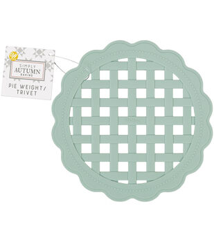 Wilton Simply Autumn Silicone Pie Weight Trivet-Sage