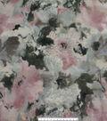 Modern Vintage Jacquard Fabric 51\u0027\u0027-Pink, Gray & Foil Floral