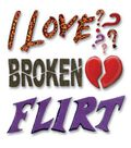 Jolee\u0027s Boutique Themed Ornate Stickers-Flirt Word
