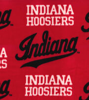 "Indiana Hoosiers Fleece Fabric 58""-Red, , hi-res"