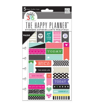 Me & My Big Ideas The Happy Planner 5 pk Washi Sticker Sheets-Bold