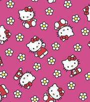 Hello Kitty Flannel Fabric -Flower, , hi-res
