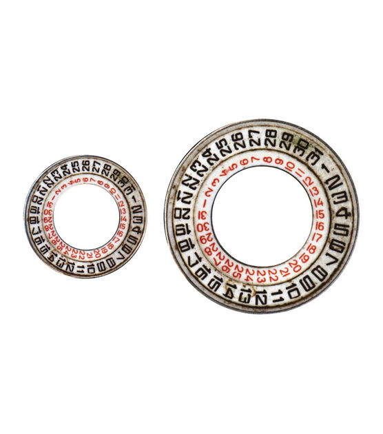 Tim Holtz Idea Ology Metal Date Dials, , hi-res, image 2