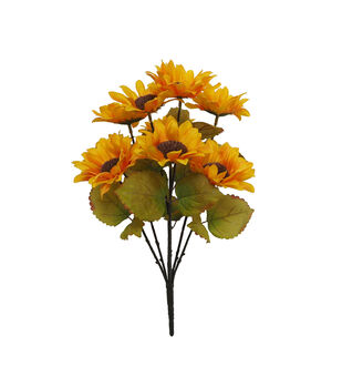 Blooming Autumn Water Resistant Sunflower Bush-Yellow