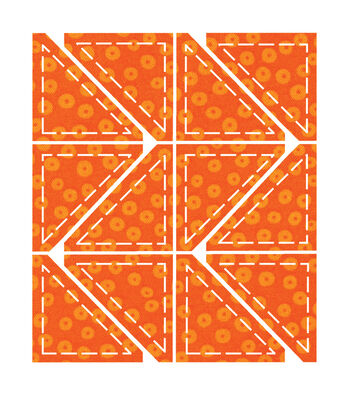 """Go! Fabric Cutting Dies-Half Square - 2"""" Finished Triangle"""