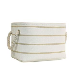 Small Fabric Bin-Stripe