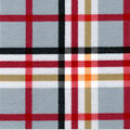 Snuggle Flannel Fabric-Traditional Light Gray & Orange Plaid