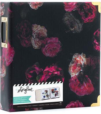 Heidi Swapp Storyline2 D-Ring Album Kit-Dark Floral