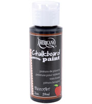 DecoArt Chalkboard Paint 2oz-Black Slate, , hi-res