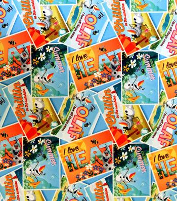 """Disney Frozen Cotton Fabric 65""""-Postcards"""