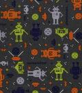 3 Yard Pre-Cut Snuggle Fabric 42\u0022-Techno Robots