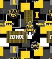 University of Iowa Hawkeyes Herky Cotton Fabric 43''-Modern Block, , hi-res