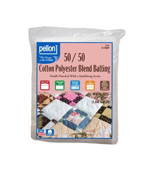 Pellon 50/50 Cotton Poly Blend Batting-Twin
