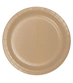 8ct Large Paper Plate-Kraft