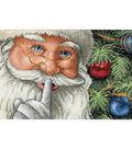 Dimensions Counted Cross Stitch Santa\u0027s Secret