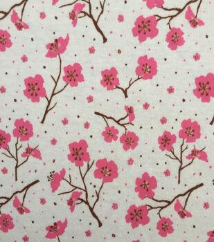 Doodles Juvenile Apparel Fabric -Cherry Blossom