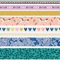 Maggie Holmes Willow Lane Washi Tape 8/Pkg-.25\u0022 To .875\u0022 Wide
