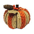 Simply Autumn Small Braided Pumpkin-Orange & Cream