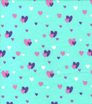 Snuggle Flannel Fabric 42''-Glam Hearts