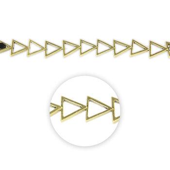 "Blue Moon Beads Strand 7"" Metal Open Triangle, Ox Brass"