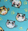 Blizzard Fleece Fabric -Bubble Kitties
