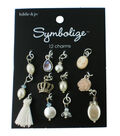 hildie & jo Symbolize 12 pk Multi Silver Charms-Pearls