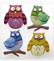 Jolee's Boutique 4 pk Stitched Owls Dimensional Stickers, , hi-res