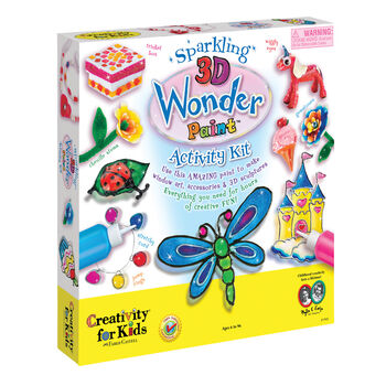 Creativity for Kids Sparkling 3D Wonder Paint Activity Kit