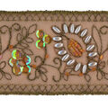 Wrights Trims-2 1/4\u0022 Seal Brown Sheer Band With Beads