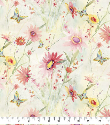 Premium Cotton Fabric-Floral Wildflowers