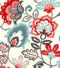 Snuggle Flannel Fabric 42\u0022-Rust Jacobean Floral